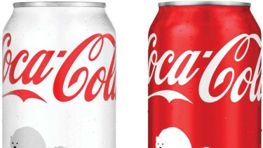 And now ... Coca-Cola's limited-edition white and red cans.