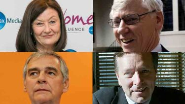 Clockwise from top left: Kate McClymont, Bruce McWilliam, Peter King and David Mortimer.