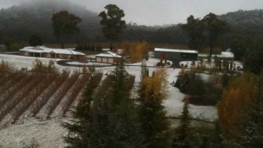 Snow has blanketed Orange today.