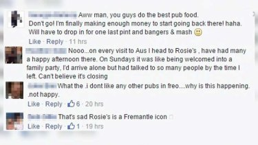 Punters have taken to Facebook to pay tribute to the 'iconic' bar.