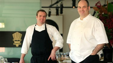 Paul Wilson (right) and Jake Nicolson from Circa restaurant in St Kilda.
