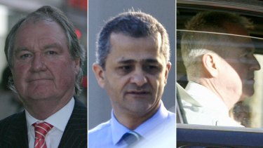 Disgraced … from top, Russell Keddie, Tony Barakat and Scott Roulstone.