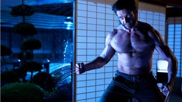 Claws of attraction: Jackman brings out the torso once more.