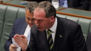 Agriculture minister Barnaby Joyce says tensions over Crimea are to blame for Russian banning the import of Australian beef.