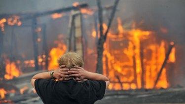 The Bendigo bushfires on Black Saturday.