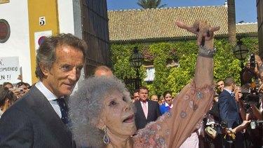 Strutting her stuff ... the Duchess of Alba.