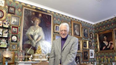 A matching AC … Richard Bonynge with a portrait of his late wife, Dame Joan Sutherland, in his home in Les Avants, Switzerland.