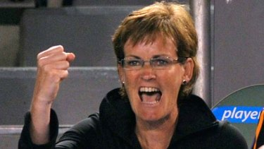 Hard to relax ... Judy Murray.