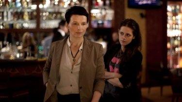 Juliette Binoche (left) and Kristen Stewart in <i>Clouds of Sils Maria</i>.