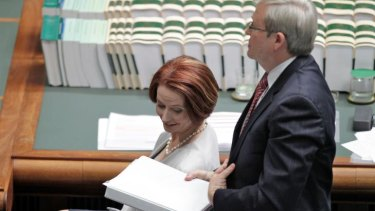 Foreign minister Kevin Rudd and Prime Minister Julia Gillard as parliament resumed this week.
