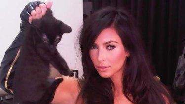 Creating a storm ... Kim Kardashian.
