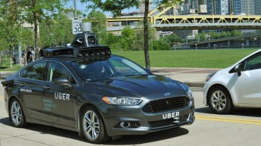 Uber tests a self-driving car in the US city of Pittsburgh.