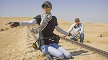 Kathryn Bigelow directing <i>The Hurt Locker</i>.