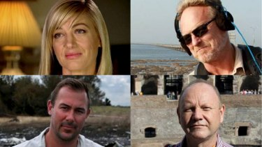 "The <i>60 Minutes</i> team who were detained in Lebanon: Tara Brown, David ""Tangles"" Ballment, Stephen Rice and Ben Williamson."