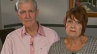 Told not to worry ... John and Janelle Taylor on <i>7.30</i> last night plead for their daughter's human rights to be respected.