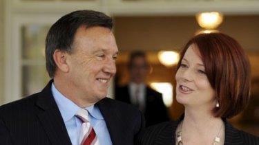 Julia Gillard with her partner Tim Mathieson.