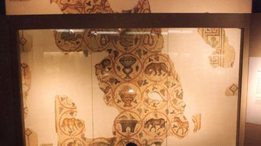 Treasured ... the Shellal Mosaic has been in the Australian War Memorial in Canberra since 1941.