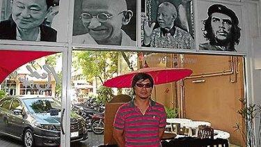 A Red Shirt activist, Jakapan Borirak, in Chiang Mai.