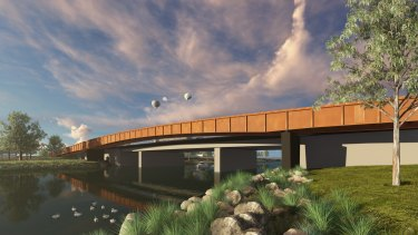 Artist's impression of $40 million upgrade to Shepherd Bridge.