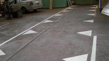 Sharpen awareness...markings for drivers.