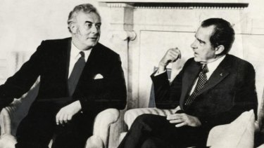 Challenging ally's policy: Australian prime minister Gough Whitlam meets president Richard Nixon in the White House in 1973.