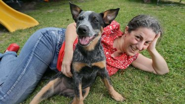 Home and housed: Melinda Folks and Mindy.