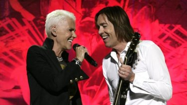 Roxette's Marie Fredriksson and Per Gessle.