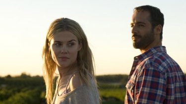 A man suddenly struck with the realisation that life may be about to smile on him again ... Rachael Taylor and Alex Dimitriades.