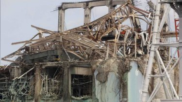 Damage: The destruction at the No.3 reactor building of Tokyo Electric Power Company's tsunami-crippled Fukushima Daiichi nuclear power plant.