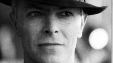 David Bowie arrives at Tullamarine Airport, Melbourne, in November 1983.