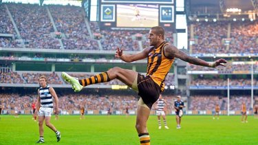 Hawthorn's Lance Franklin was held for most of the round five clash between these teams by Tom Lonergan, but it is hard to see Hawthorn winning without him.