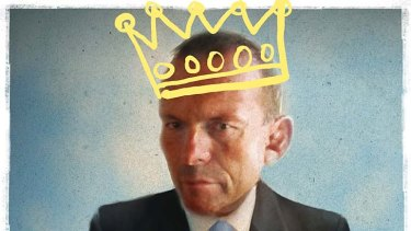 'Tony Abbott is not the caricature many on the left want him to be.' Illustration by Michael Mucci.