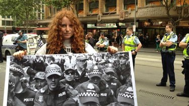 Still protesting: Sara Kerrison, who is involved in the Occupy legal case.
