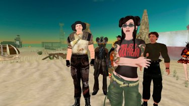 Spot the spook: intelligence operatives have entered the terrain populated by digital avatars that include elves, gnomes and supermodels - such as these from online game Second Life.