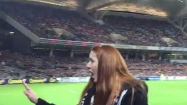 A Facebook user posted a video of the face of a woman alleged to have thrown the banana.