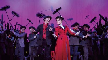 Chim Chim Cher-ee ... Matt Lee and Verity Hunt Ballard in their roles of Bert and Mary Poppins.