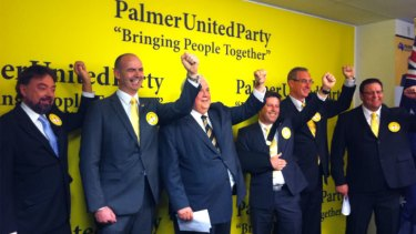 """Onhis  """"Super Sunday"""", Clive Palmer named a Moreton Bay oyster farmer, who shares the name of a late Hollywood cowboy, among four new Senate candidates from his Palmer United Party (PUP)."""