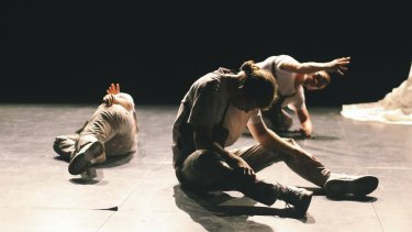 FACES is performed by James Batchelor, Chloe Chignell and Luigi Vescio.
