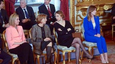 Criticised: Federica Mogherini, Maria Carmela Lanzetta, Marianna Madia and Maria Elena Boschi.
