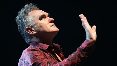 '110% Morrissey' .... Morrissey performing in California in May.