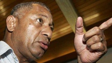Insecure ... Frank Bainimarama.