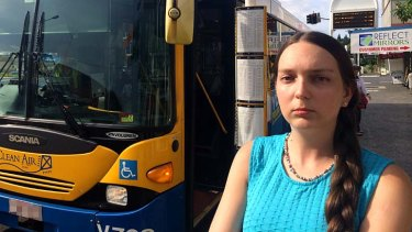 Kylie Reid stood up to a foul mouthed racist on a Brisbane bus but says she was let down by other passengers who failed to speak up.