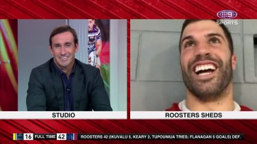 Andrew Johns has been left filthy at the lack of celebrations on the Roosters return flight to Sydney.