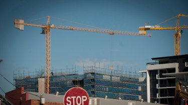 The rate of apartments being built in Brisbane is gradually slowing.
