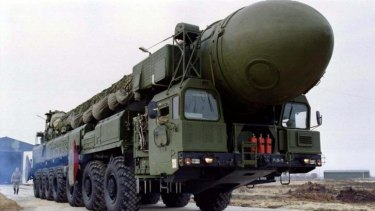 Russia has test-fired a Topol nuclear-capable missile.
