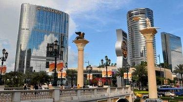 Casinos in Macau.
