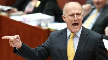 Eric Abetz's constant demands that senate colleagues pull his finger grew increasingly tiresome.