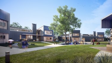An artist's impression of Wesley's learning in residence at its Glen Waverley campus.