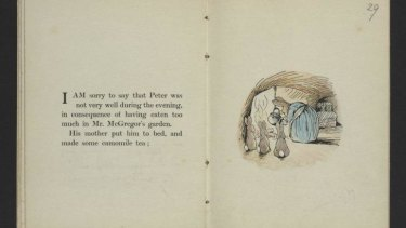 <i>The Tale of Peter Rabbit</i>, by Beatrix Potter, 1901.