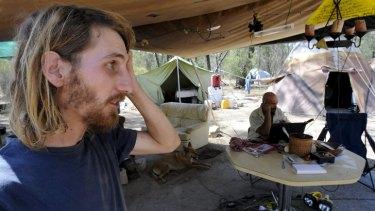 Anti-coalmine protester Jonathan Moylan.